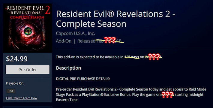 Премьера «Resident Evil: Revelations 2» может состояться в феврале 2015