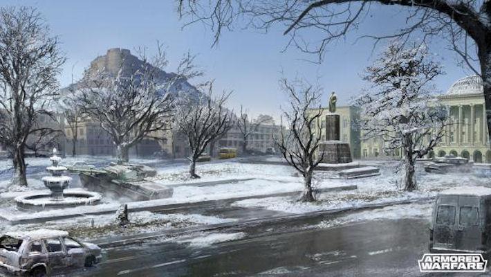 Презентация зимней карты в Armored Warfare