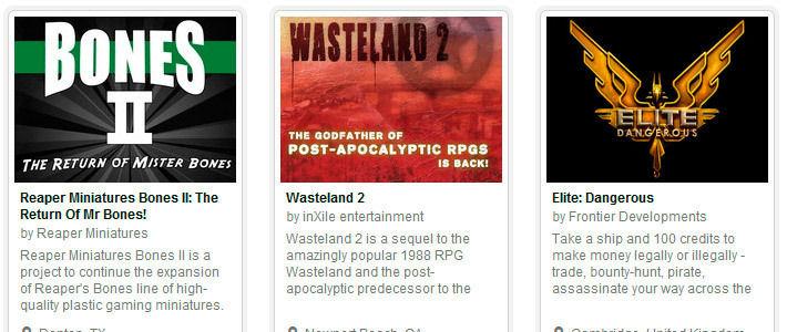 Первое место по финансированию на Kickstarter заняли игровые проекты
