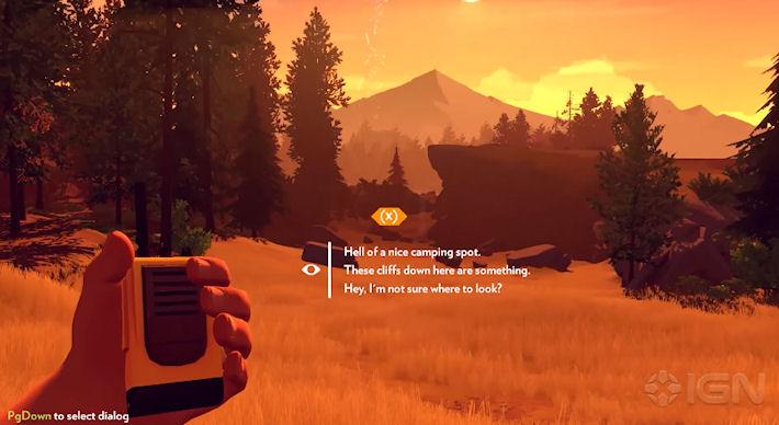 Опубликован игровой процесс игры Firewatch
