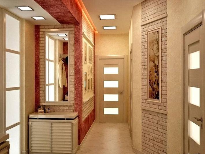 Отделка стен и потолка в коридоре