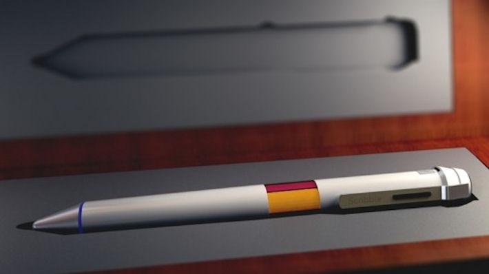 Scribble Ink – электронная ручка пишущая различными цветами