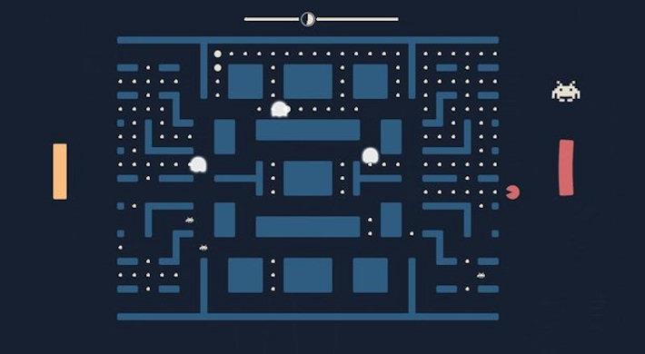 В новой игре объединили легендарные Pac-Man, Space Invaders и Pong