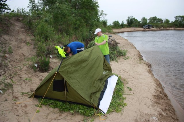Где установить палатку?