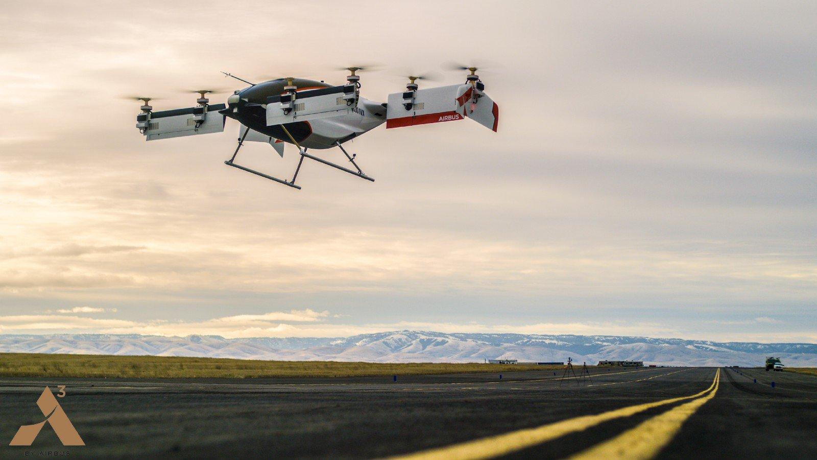 Airbus провела первые испытания летающего беспилотного такси