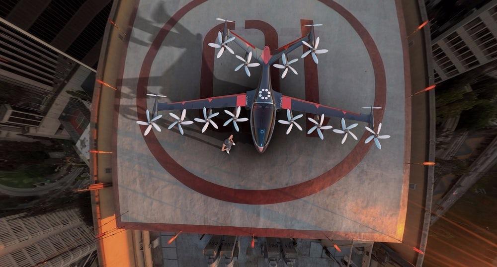 Стартап Joby создаст летающее такси с поворотными винтами