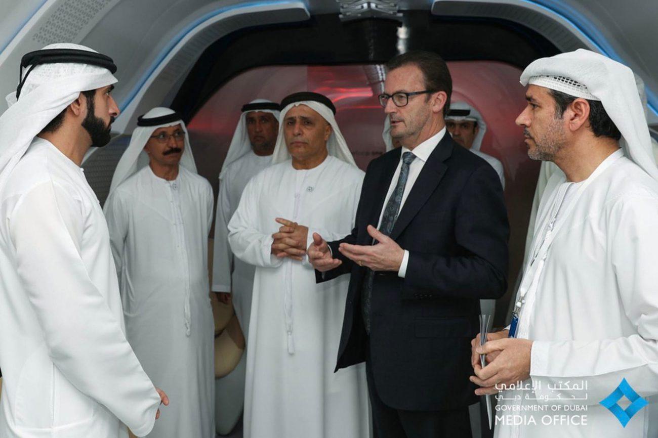 Капсулу Virgin Hyperloop One показали в Дубае