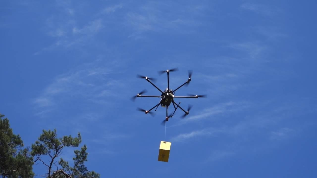 В Москве тестируют систему доставки грузов дронами