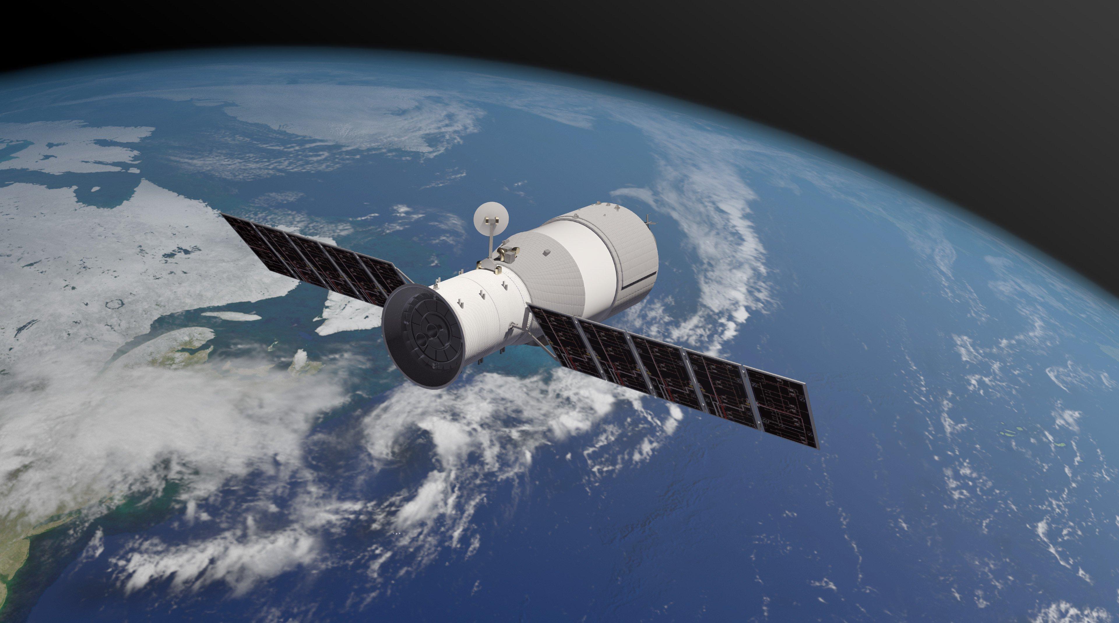 Китайская орбитальная станция «Тяньгун-1» упала в Тихом океане