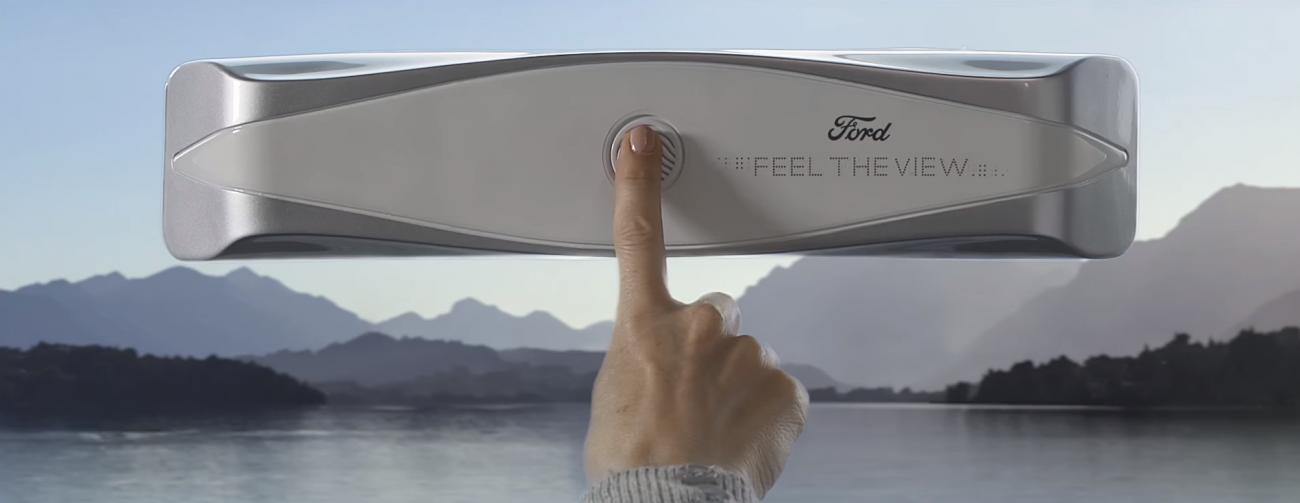 Ford представил стекло, которое позволит слепым «увидеть» пейзаж за окном автомобиля