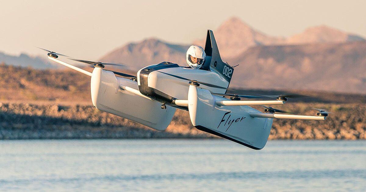 Показан настоящий летающий автомобиль от Kitty Hawk, и он действительно летит