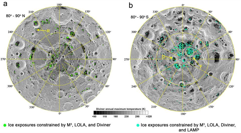 Астрономы подтвердили наличие льда на Луне
