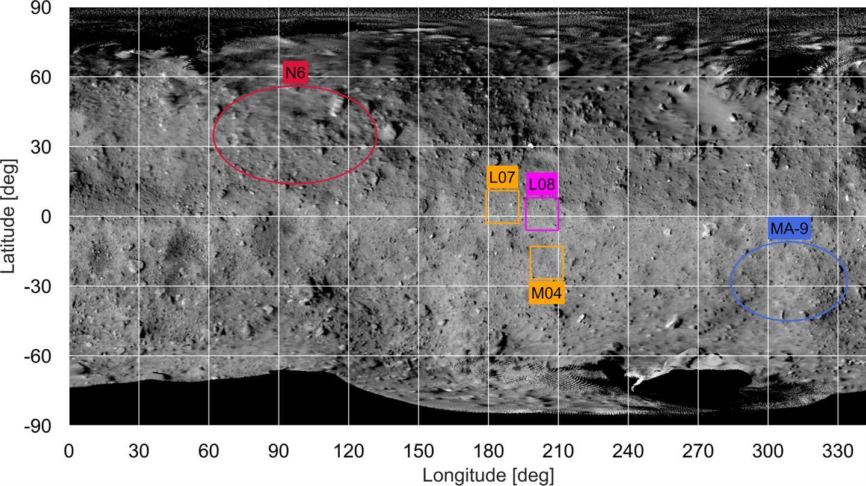 Ученые выбрали места посадок на астероид Рюгу в рамках миссии «Хаябуса-2»