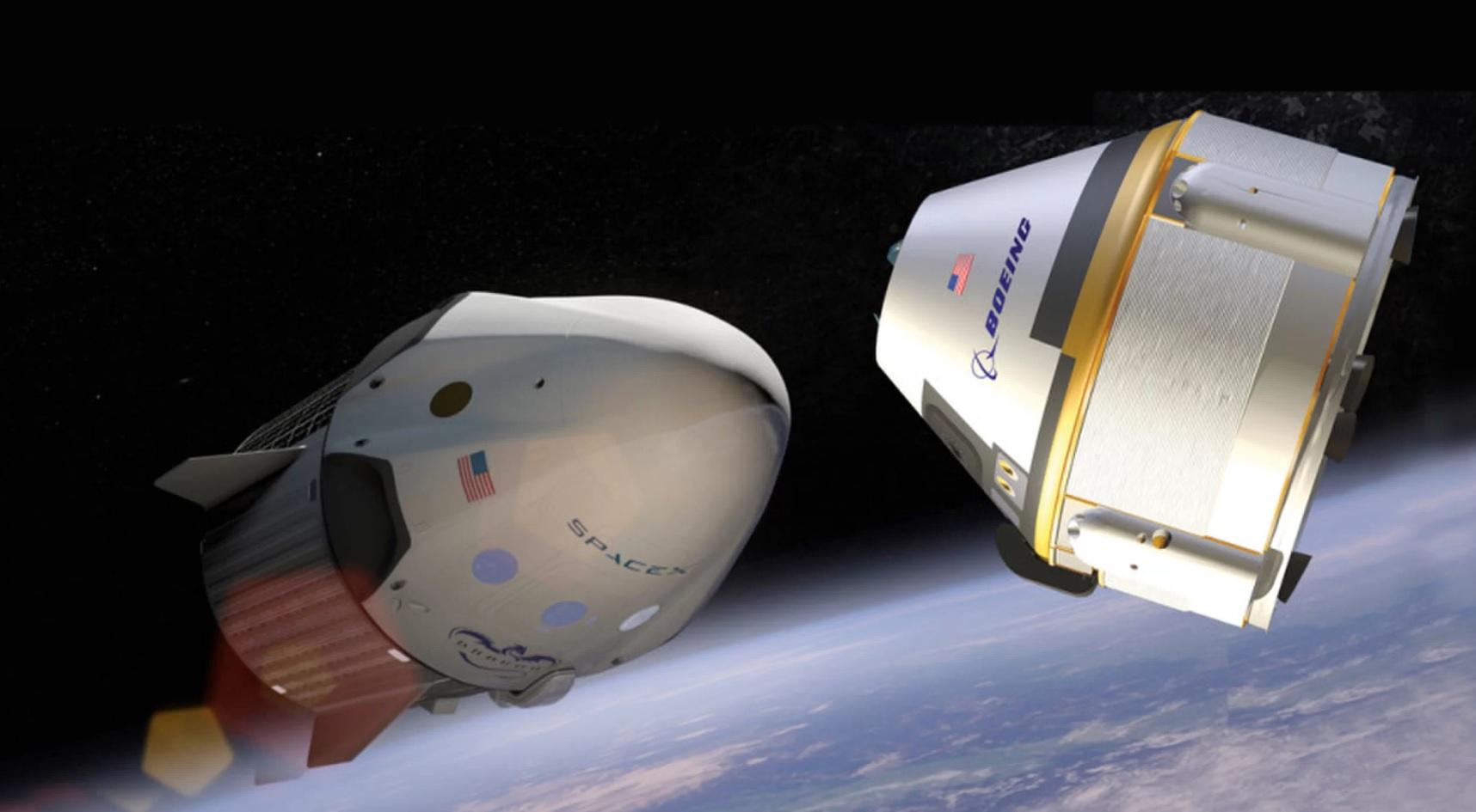 NASA объявит первые экипажи космических аппаратов SpaceX Crew Dragon и Boeing CST-100 Starliner