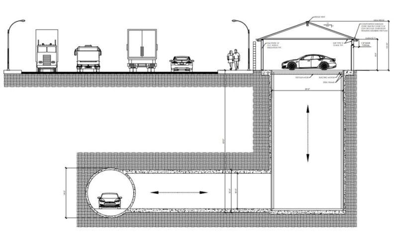 Boring Company (та самая) построит экспериментальный подземный гараж в туннеле