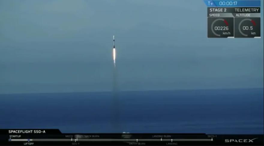 SpaceX побила четыре рекорда, запустив Falcon 9 этой ночью