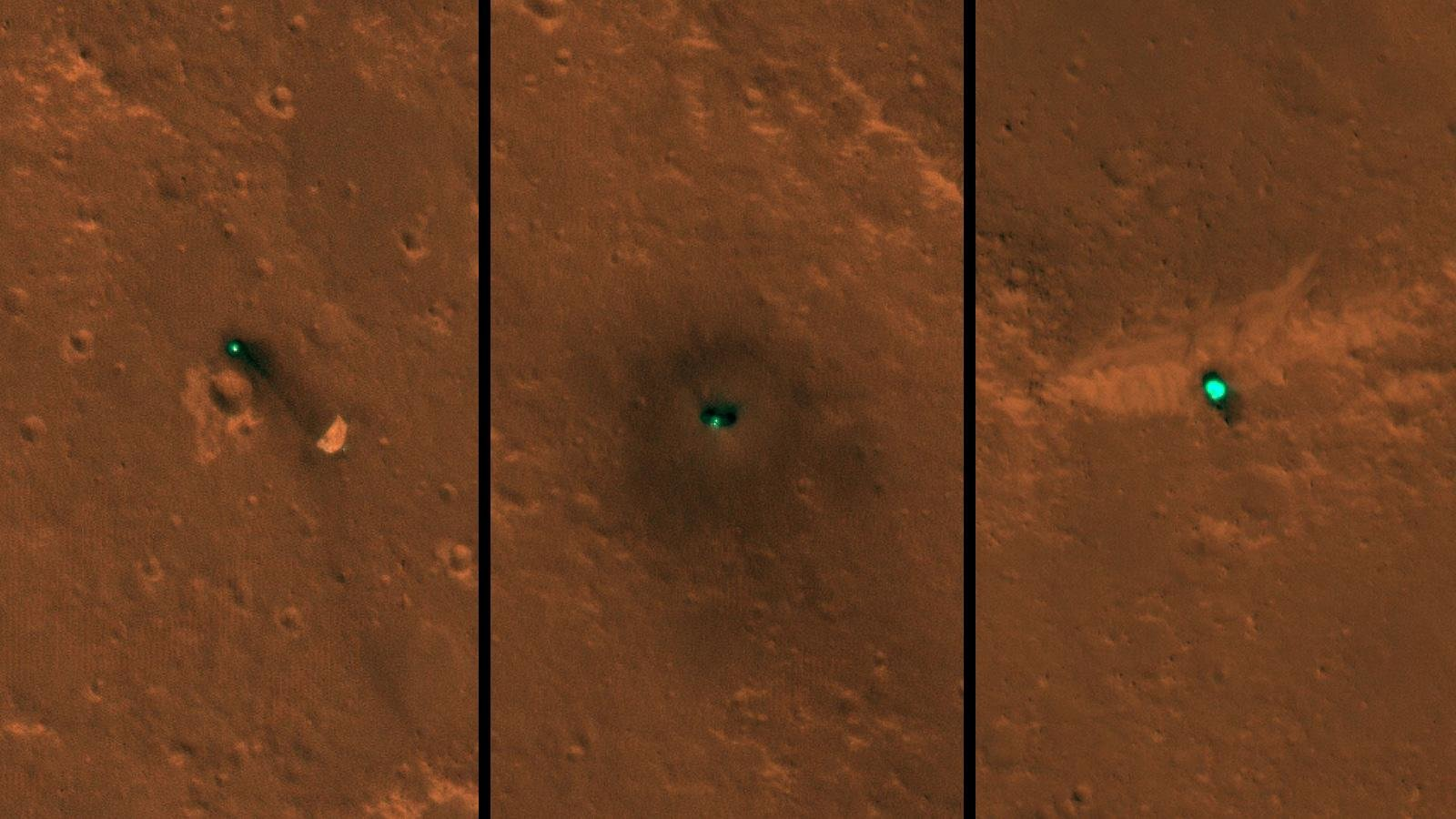 Марсианский аппарат InSight попал на первые снимки из космоса