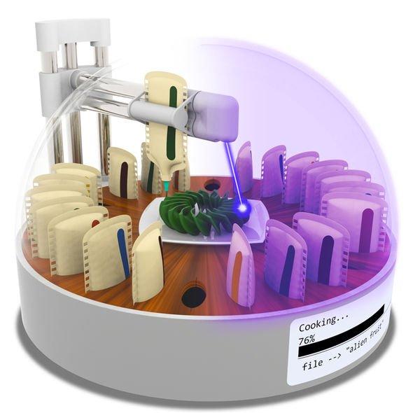 На 3D-принтере теперь можно не только печатать еду, но и сразу же ее готовить