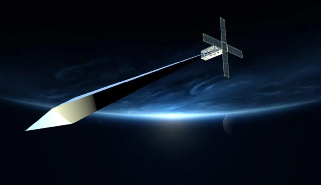 На орбите Земли есть надувная скульптура, но она не может развернуться