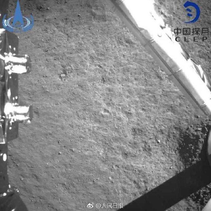#фотодня | Китайский аппарат «Чанъэ-4» мягко сел на обратной стороне Луны