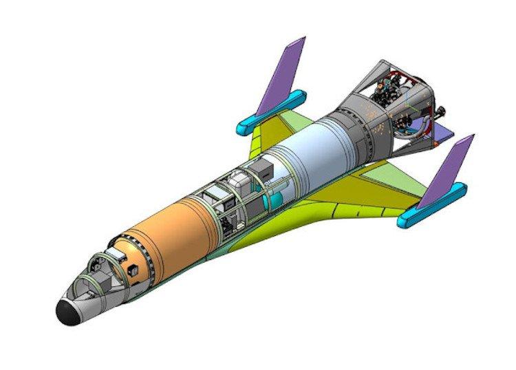 В России разработан первый «многоразовый» ракетоплан. Вот как он будет выглядеть